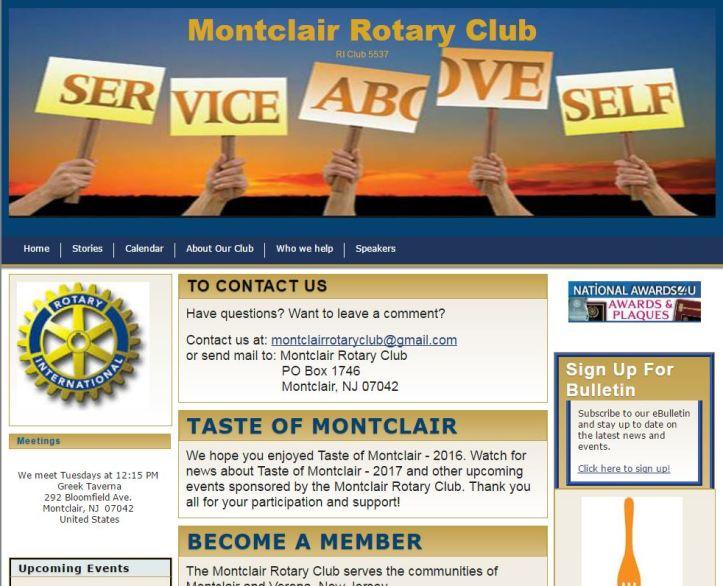 Website Montclair Rotary 4 4 16