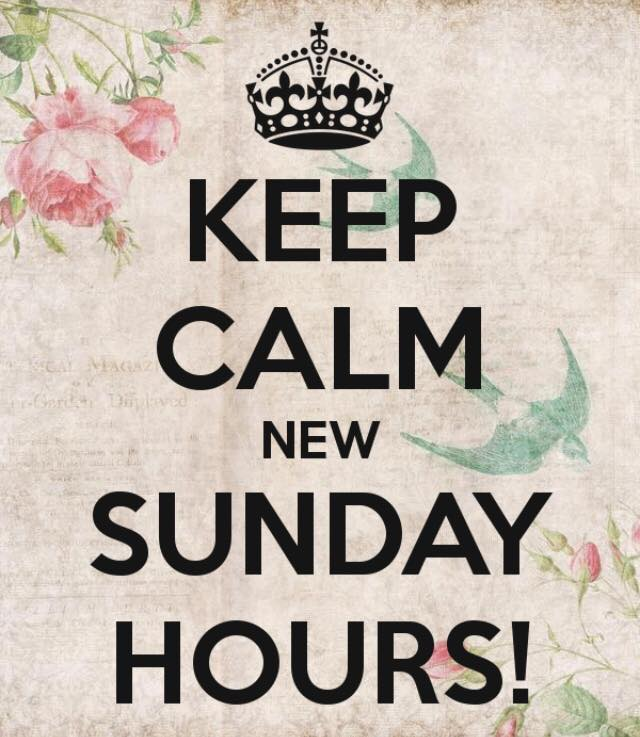Keep Calm Sunday Hours