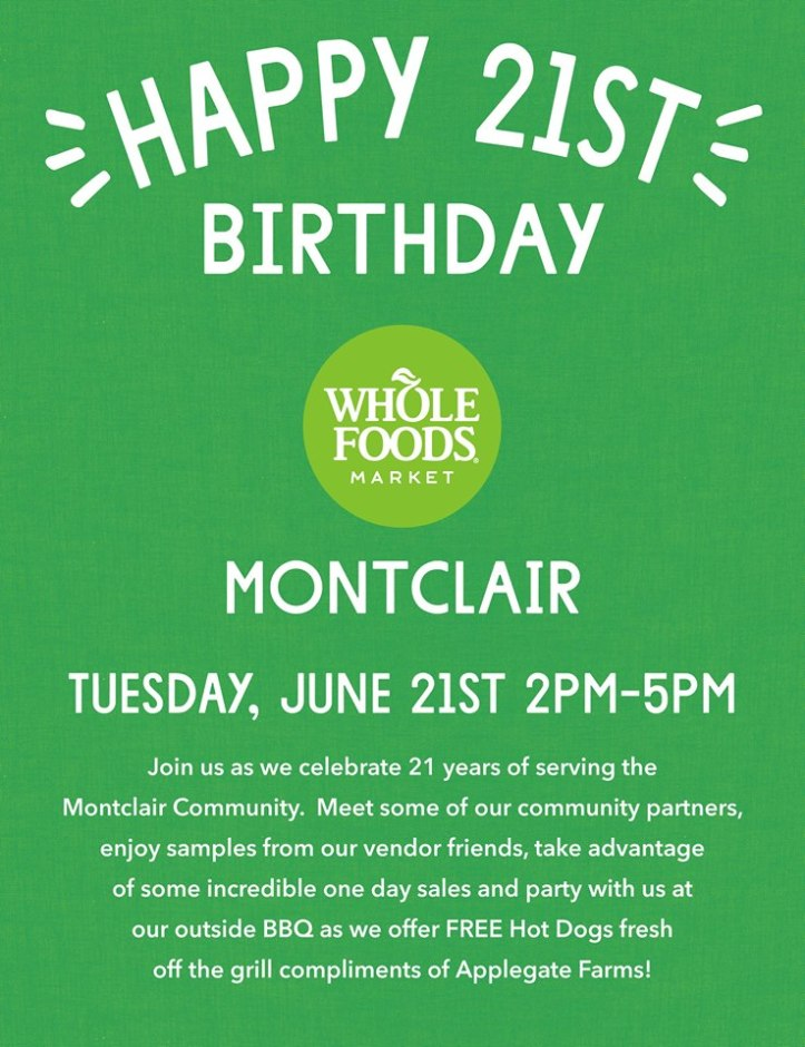 Whole Foods Birthday June 2016