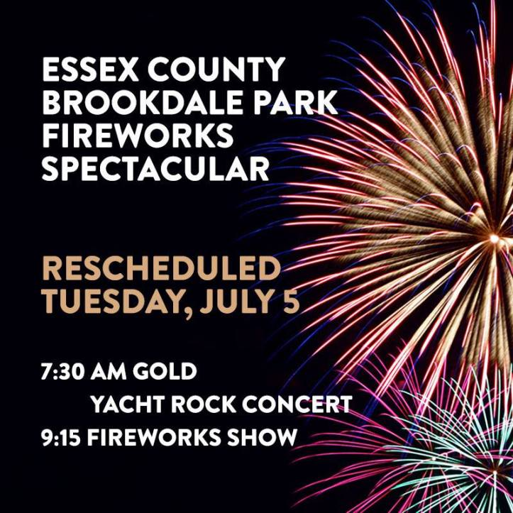 Brookdale Park 4th of July Fireworks 2016
